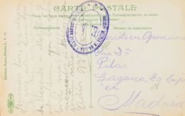 España. Correo / Franquicias Militares. Sobre . (1909ca). Tarjeta Postal De MELILLA A MADRID. Marca Actuando De Franquic - Franquicia Militar