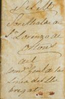España. Correo / Franquicias Militares. Sobre . 1840. ESPARRAGUERA (BARCELONA) A SAN LORENZO DE ORTONS (BARCELONA). Circ - Franquicia Militar