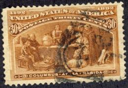 1892 Usa Colon 1v. 30c. - Usati