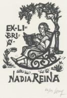 Ex Libris Nadia Reina - Remo Wolf (1912-2009) Gesigneerd - Ex-Libris