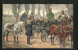 AK Zusammenkunft Bismarcks Und Napoleons Bei Donchery Nach Der Schlacht Bei Sedan, September 1870 - Personnages Historiques