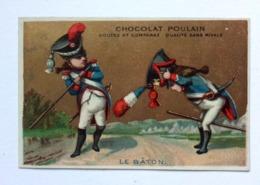 CHROMO DORÉE ....  CHOCOLAT POULAIN.......LE BATON - Poulain