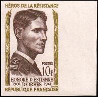 FRANCE   ** 1101 Essai En Bicolore, Bdf: Honoré D'Estienne D'Orvres, Résistant - Proofs