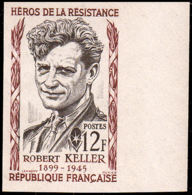 FRANCE   ** 1102 Essai En Bicolore, Bdf: Robert Keller, Résistant - Proofs