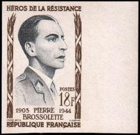 FRANCE   ** 1103 Essai En Bicolore, Bdf: Pierre Brossolette, Résistant - Proofs
