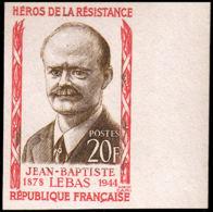 FRANCE   ** 1104 Essai En Bicolore, Bdf: Jean-Baptiste Lebas, Résistant - Proofs