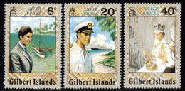 Gilbert Islands 1977 Royal Silver Jubilee Set Of 3, MNH, SG 48/50 (BP2) - Gilbert & Ellice Islands (...-1979)