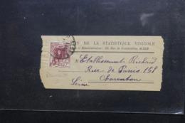 ALGÉRIE - Bande Journal ( Demie ) De Alger Pour La France , Affranchissement Plaisant - L 46621 - Lettres & Documents