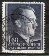 Poland German Occupation 1z 60g Stamp Showing Adolf Hitler From 1941. - General Government