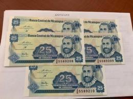 Nicaragua 25 Centavo Unc. Banknote 1991 Lot Of 5 - Nicaragua
