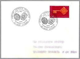 Hermanamiento Filatelico Con VILLANUEVA Y GELTRU (VILANOVA I LA GELTRU). Saint Etienne 1968 - Briefe U. Dokumente