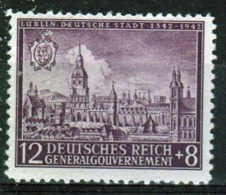 Poland German Occupation 1942 Single Stamp Showing 600th Anniversary Of Lubin. - General Government