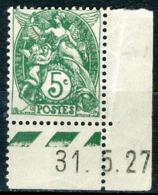 Type Blanc N°111 (1927) - Coins Datés