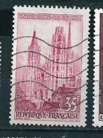 N° 1129 La Cathédrale De Rouen  Timbre   France 1957  Oblitéré - Usados
