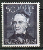 Poland German Occupation 1942 Single Stamp Showing 3rd Anniversary Of Occupation. - General Government