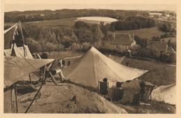 CARTE POSTALE ORIGINALE ANCIENNE : MEYMAC CAMP DES SCOUTS DE LA FEUILLADE L'HEURE DE LA SIESTE  ANIMEE CORREZE (19) - Autres Communes