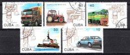 Kuba 1993 Mi.nr: 3649-3653 Arbeitsweise Der Dieselmotors  Oblitérés / Used / Gestempeld - Sonstige (Land)