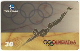 BRASIL E-380 Magnetic Telemar - Sport, Event, Olympic Games - Used - Brésil
