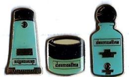 DERMASTINE - D6 - 3'pin's Différents - Verso : IMI PARIS - Merken