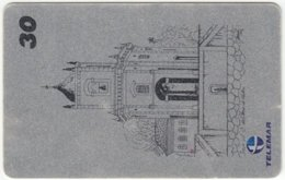 BRASIL E-399 Magnetic Telemar - Painting, Landmarks Of Brazil - Used - Brésil