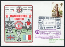 1977 GB Dawn Football Cover. Manchester United V St Etienne. European Cup Winners Cup - 1952-.... (Elizabeth II)