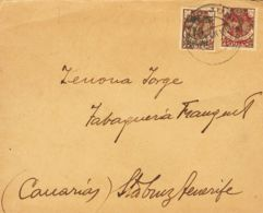 España. Cabo Juby. Sobre 3, 3A. 1916. 15 Cts Sobre 50 Cts Castaño (carmín) Y 15 Cts Sobre 50 Cts Castaño (verde). Carta - Cabo Juby