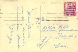 España. 2º Centenario Correo Aéreo. Sobre 1089. 1957. 10 Cts. + 1 Pts. Rosa. STA. CRUZ DE TENERIFE A ZURICH (SUIZA). Mat - Aéreo