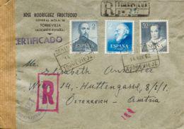 España. 2º Centenario Anterior A 1960. Llegada En El Frente. MAGNIFICA Y ESPECTACULAR. - 1951-60 Covers