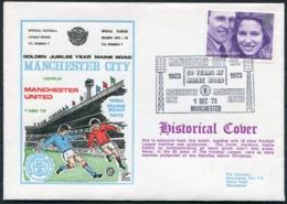 1973 GB Dawn Football Cover. Manchester City V Manchester United. - 1952-.... (Elizabeth II)