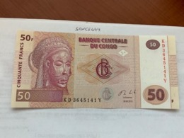 Congo 50 Francs Unc. Banknote 2013 - Nicaragua