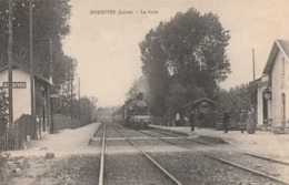 CPA:DORDIVES (45) TRAIN GARE - Dordives