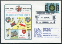 1977 GB Dawn Football Cover. Manchester City V Widzew Lodz. U.E.F.A. Cup - 1952-.... (Elizabeth II)
