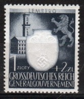 Poland German Occupation 1942 Single Stamp Showing 3rd Anniversary Of Nazi Party In Occupied Poland. - General Government