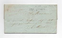 !!!  PRIX FIXE, MARQUE N°27 ARMEE D'ESPAGNE, CACHET ROUGE DE L'INTENDANT DE L'ARMEE D'ESPAGNE SUR LETTRE DE 1809 - Legerstempels (voor 1900)