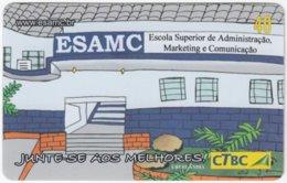 BRASIL K-077 Magnetic CTBC - Cartoon - Used - Brésil