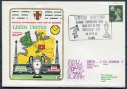 1974 GB Dawn Football Cover. Leeds United V F.C. Zurich, European Cup. Goal Scorers: Clarke Lorimer & Jordan - 1952-.... (Elizabeth II)