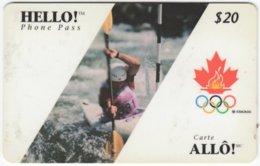 CANADA A-452 Prepaid Allo! - Event, Sport, Olympic Games - Used - Canada
