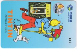 CHINA E-097 Prepaid ChinaTietong - Comics, Tintin - Used - China