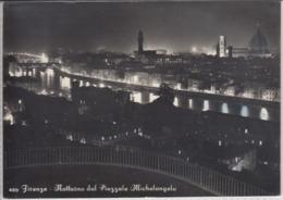 FIRENZE - Notturno Dal Piazzale Michelangelo   Viaggiata 1958 - Firenze (Florence)