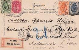Carte Postale Recommandée Datée 1902 Pour Nice - Other