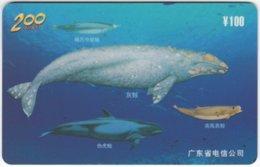 CHINA E-118 Prepaid ChinaTelecom - Painting, Animal, Sea Life, Whale - Used - China