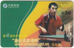 CHINA E-127 Prepaid ChinaTelecom - Sport, Table Tennis - Used - China