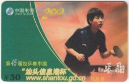 CHINA E-129 Prepaid ChinaTelecom - Sport, Table Tennis - Used - China