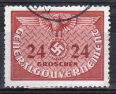 Poland German Occupation 1940 Single 24g Official Stamp. - General Government