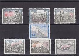 Cuba Nº 520 Al 523 Y A204 Al A206 - Cuba
