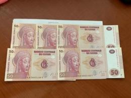 Congo 50 Francs Lot Of 5 Uncirc. Banknotes 2013 - Congo