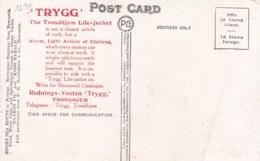LAPLANDERS AT LYNGEN FIORD, NORWAY. POSTALE CPA CIRCA 1920's AVEC PUBLICITE  -LILHU - Noruega