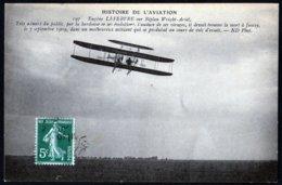 France Aviation Juvisy 91 Essonne Eugène Lefebvre Sur Biplan Wright 7 SepT 1909 - Aviadores
