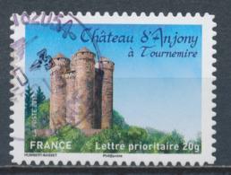 France - Châteaux Et Demeures (Anjony) YT A718 Obl. Cachet Rond Manuel - Francia
