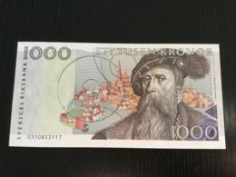 SWEDEN 1000 KRONOR BANKNOTE 1990 - Svezia